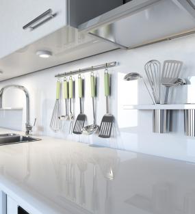Crédences de cuisine en verre laqué